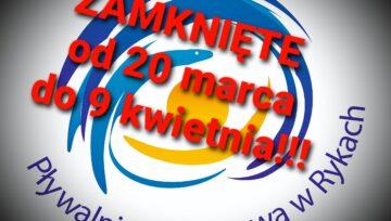 Zamknięcie pływalni od 20 marca do 9 kwietnia...